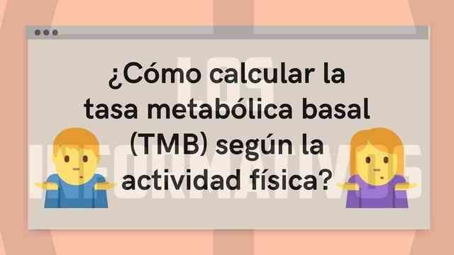 ¿Cómo calcular la tasa metabólica basal según la actividad física?