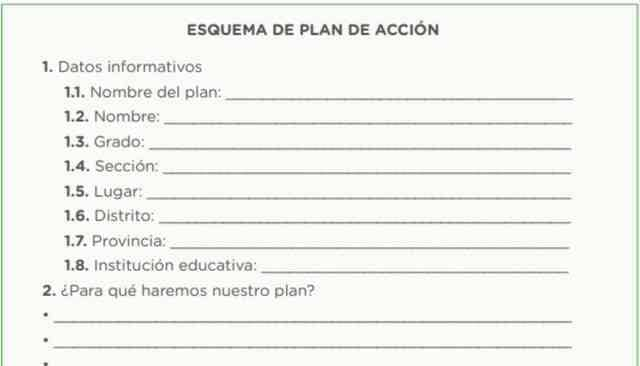 Ahora, redactamos la versión final del plan de acción con base en el esquema anterior.